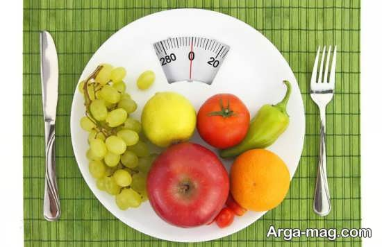 کاهش وزن با رژیم غذایی مناسب