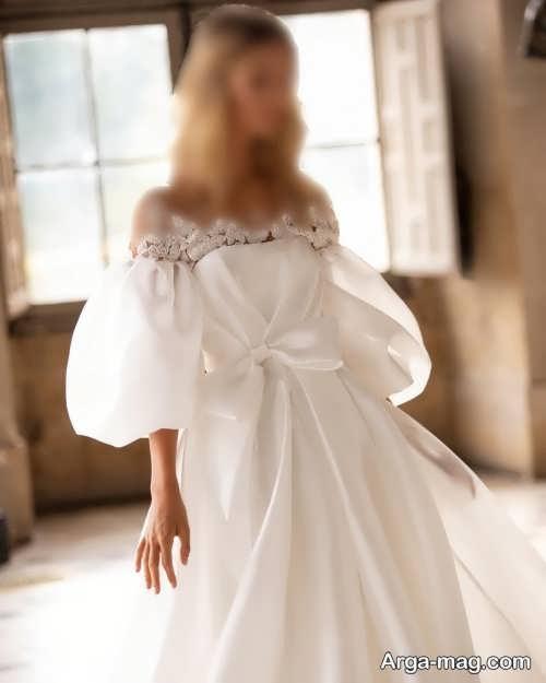 پیراهن عروس آستین پفی