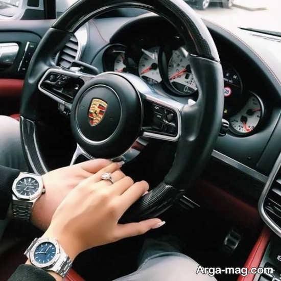 تصویر پروفایل عاشقانه در ماشین