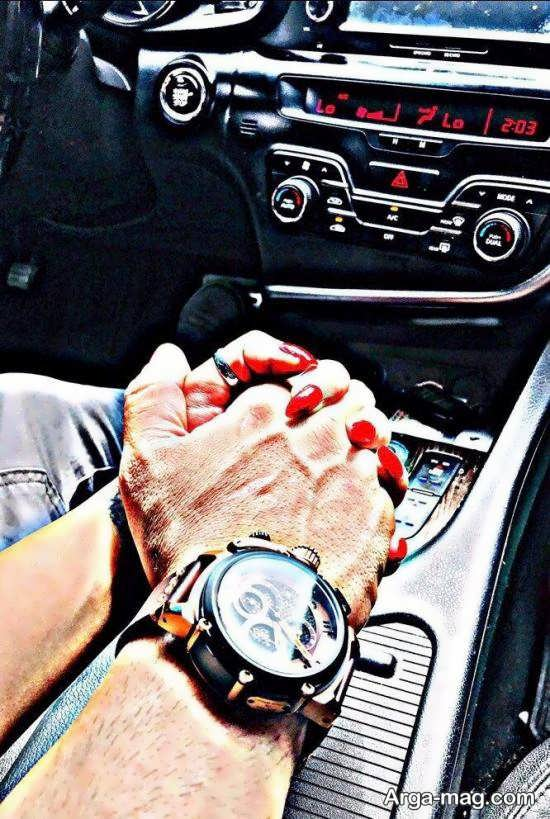 انواع جدید عکس عاشقانه در ماشین