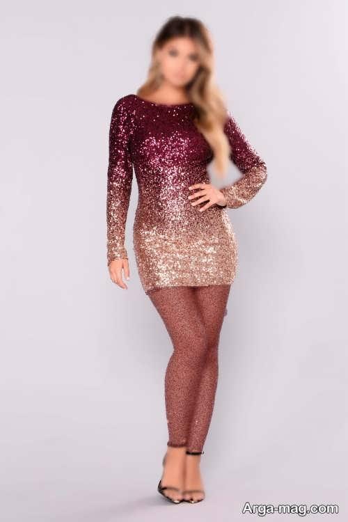 مدل لباس پولکی شیک