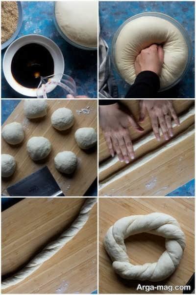 مراحل تهیه نان سیمیت