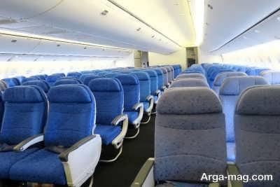 آبی بودن صندلی هواپیما به چه دلیلی است؟