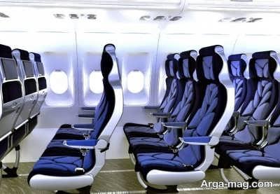 آبی بودن صندلی هواپیما ها