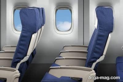 صندلی هواپیما و رنگ آبی آنها