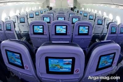 علت آبی شدن صندلی در هواپیما