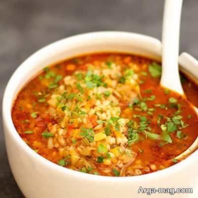 سوپ جو قرمز