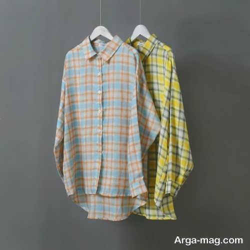پیراهن چهارخانه شیک