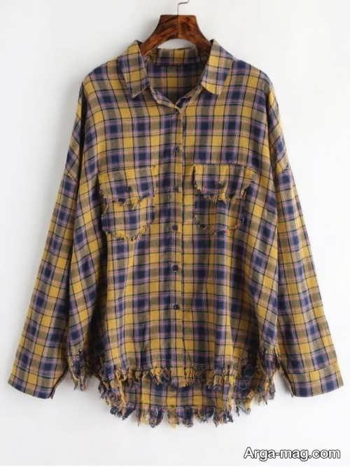 پیراهن چهارخانه شیک و زیبا