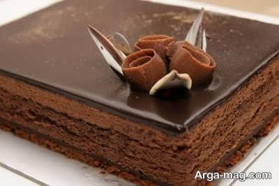 کیک شکلاتی سرد خوشمزه و خوش طعم