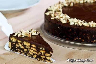کیک شکلاتی گردویی