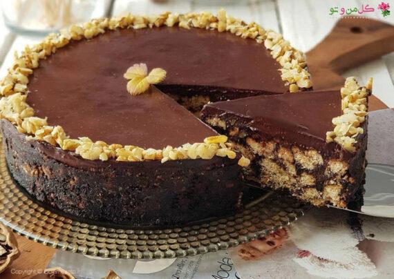 طرز تهیه کیک شکلاتی سرد