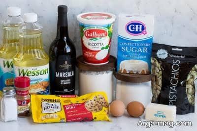 مواد لازم برای تهیه کانولی صدفی