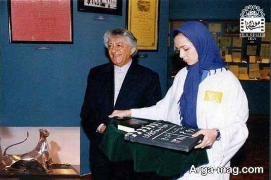 ترانه علیدوستی و بازیگر معروف در موزه سینمای ایران