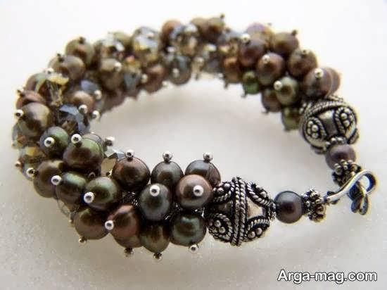 ایده هایی منحصر به فرد و خارق العاده از ساختن دستبند خوشه ای با استفاده از سنگ های مهره ای