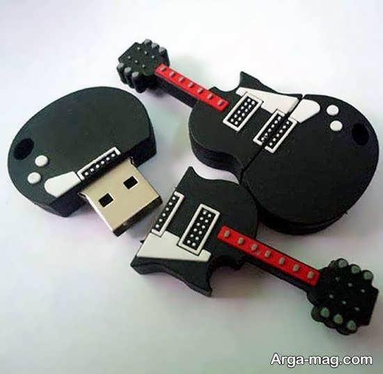 زیباسازی فلش مموری به شکل گیتار