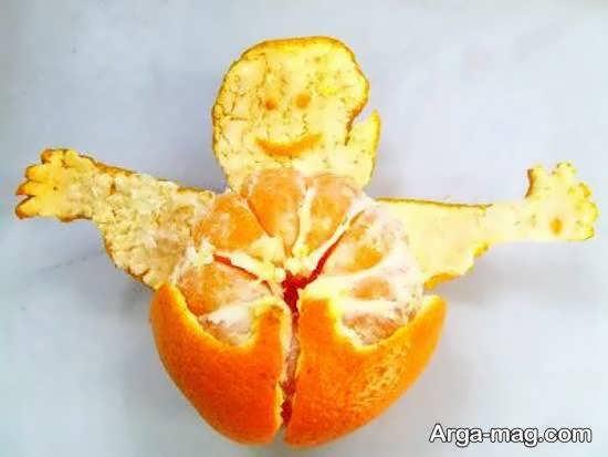 تزیینات میوه با استفاده از نارنگی و پوست نارنگی برای مهمانی
