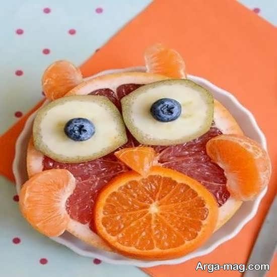 نمونه هایی بینظیر و خارق العاده از تزیینات میوه با نارنگی