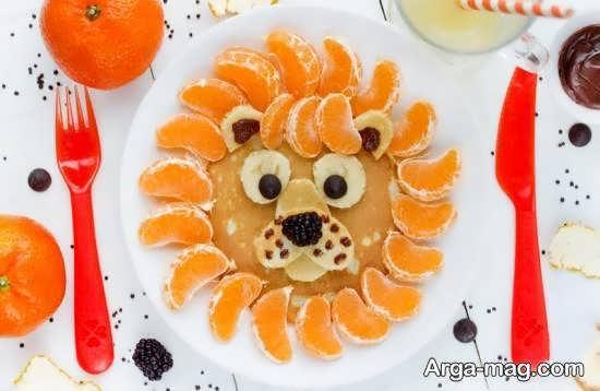تزیینات میوه به شکل حیوانات با نارنگی