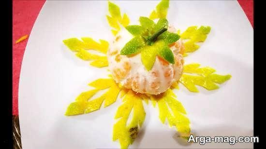 ایده هایی زیبا و جذاب از تزیینات میوه با نارنگی خوشمزه و خوش ظاهر