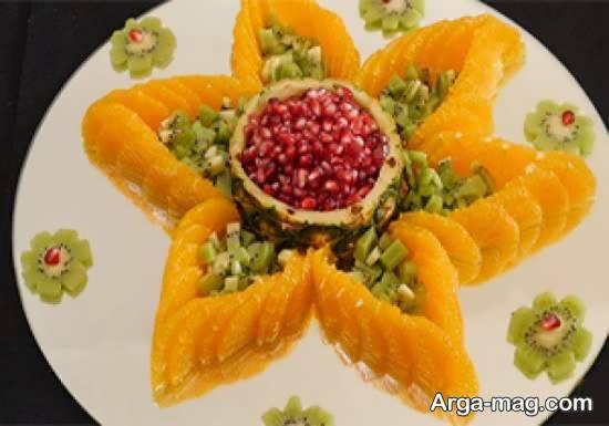 مجموعه ای ناب و جدید از میوه آرایی با نارنگی برای الگوپذیری