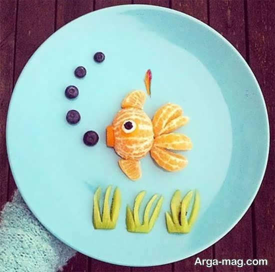 دیزاین میوه برای مهمانی به شکل های زیبا با نارنگی