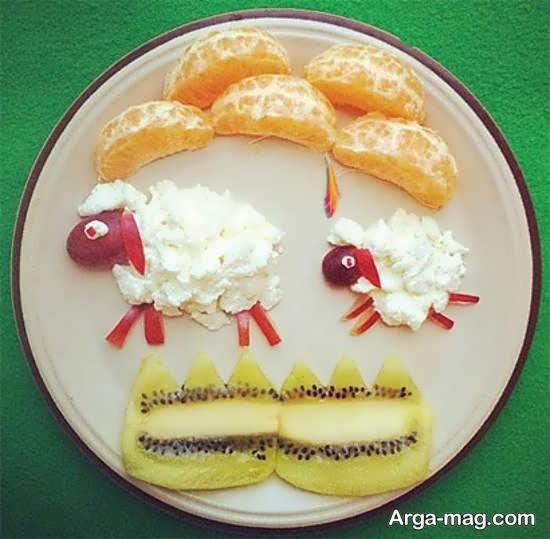 ایده هایی خاص و بینظیر از میوه آرایی با نارنگی