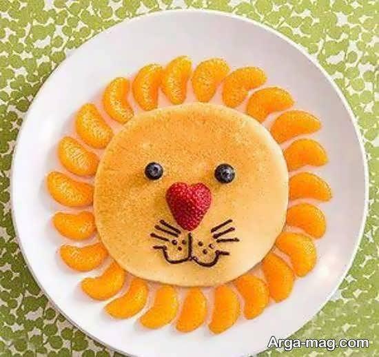 تزیینات میوه به شکل هایی زیبا با نارنگی