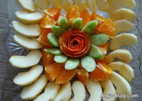 مجموعه ای خواستنی و خلاقانه از تزیینات میوه با نارنگی
