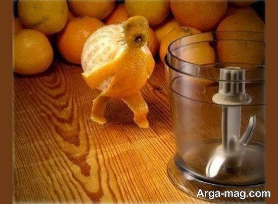 ایده هایی زیبا و جالب از تزیین میوه با نارنگی