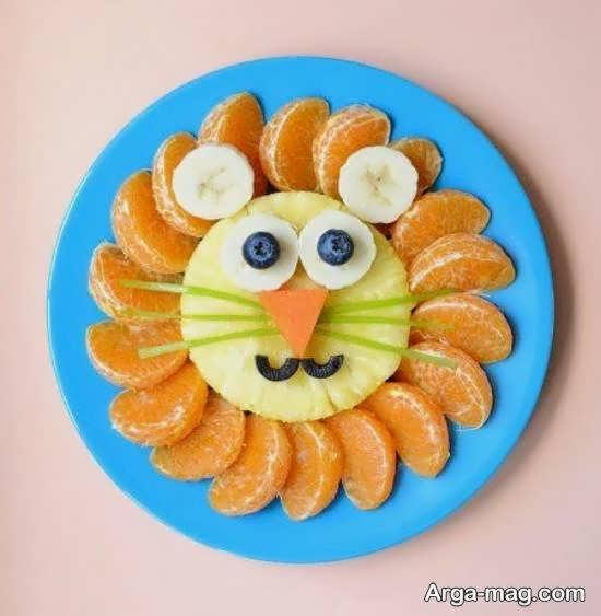 مجموعه ای جالب و جذاب از میوه آرایی با نارنگی