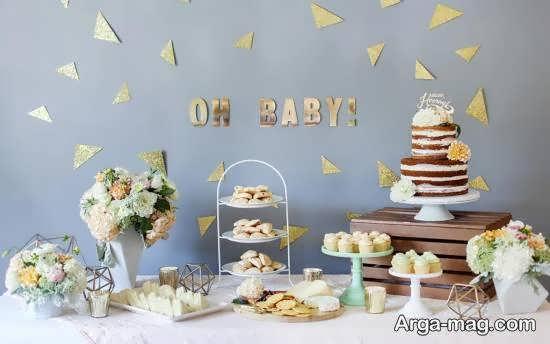 گالری زیبایی از ایده ها برای تزیین جشن 10 روزگی نوزاد