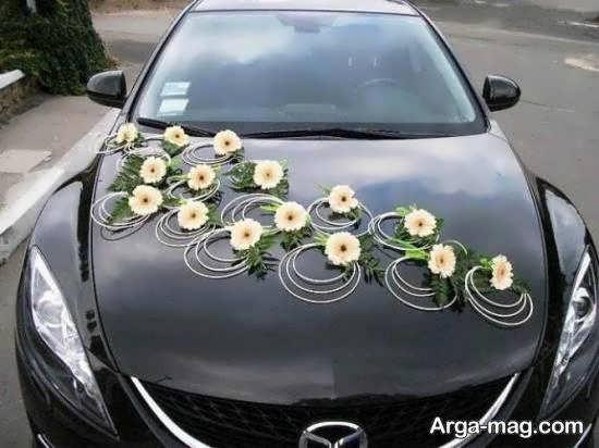 نمونه هایی زیبا و جذاب از تزیین خودروی عروس مشکی
