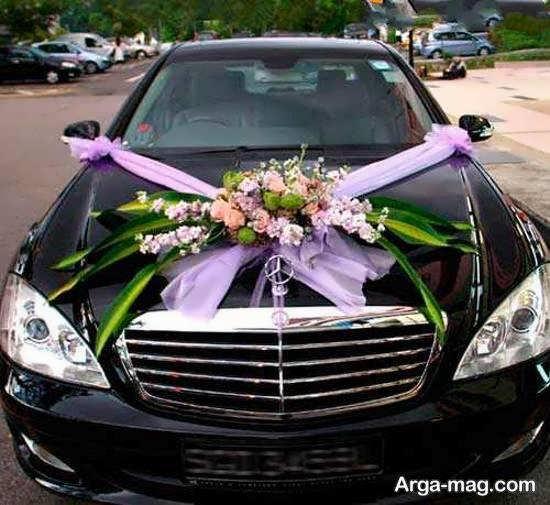 ایده هایی خلاقانه و باسلیقه از تزیین ماشین عروس مشکی رنگ با تور و روبان