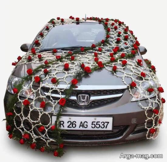طرح جدید و جذابی برای تزیین خودروی عروس مشکی