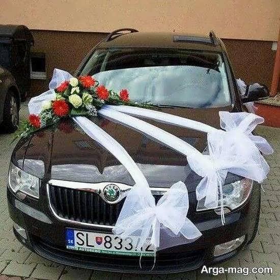 گالری زیبایی از تزیینات ماشین عروس مشکی