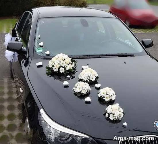 زیباسازی و تزیینات ماشین عروس مشکی