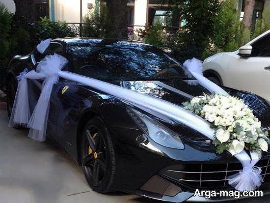 ایده هایی منحصر به فرد از تزیین خودروی عروس مشکی