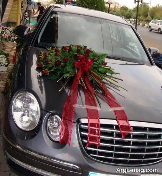 نمونه هایی خواستنی از تزیین ماشین عروس با روبان قرمز