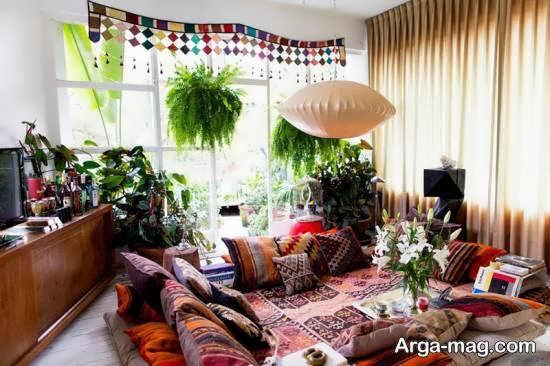گالری شیکی از دیزاین منزل به سبک بوهو