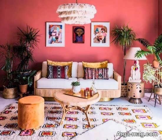 ایده هایی زیبا و جذاب از دیزاین ممنزل به سبک بوهو