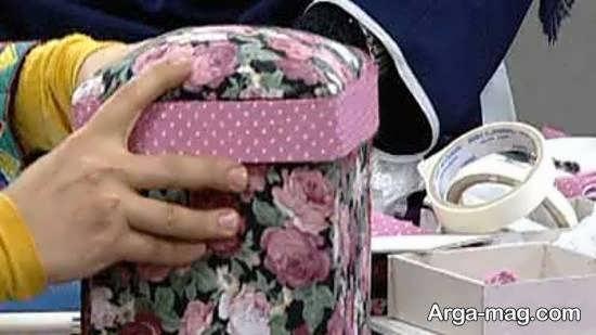 آموزش ساخت جعبه با پارچه برای تمامی سلیقه ها
