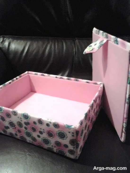 آموزش ساخت جعبه با پارچه برای استفاده های گوناگون