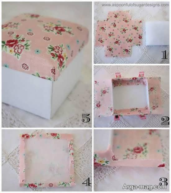 ایده های بینظیر و زیبایی از ساخت جعبه با استفاده از پارچه ساخت
