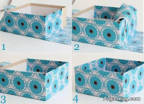 ساخت و تهیه جعبه با استفاده از پارچه و مقوا