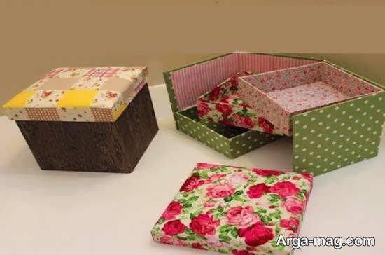 نمونه هایی خاص و خارق العاده از ساخت جعبه با پارچه