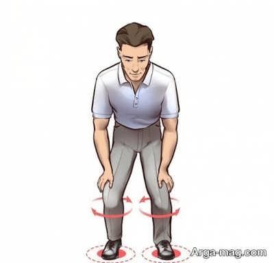چرخش به روی زانو در ورزش چی کونگ به چه صورت است؟