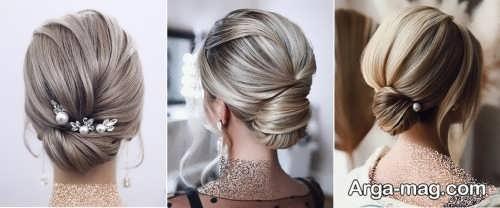 مدل شینیون موی بسته عروس 2021