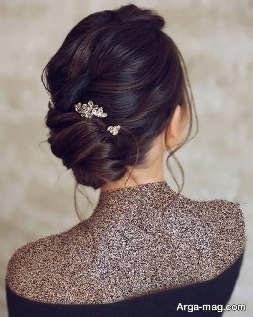 شینیون زیبا برای عروس