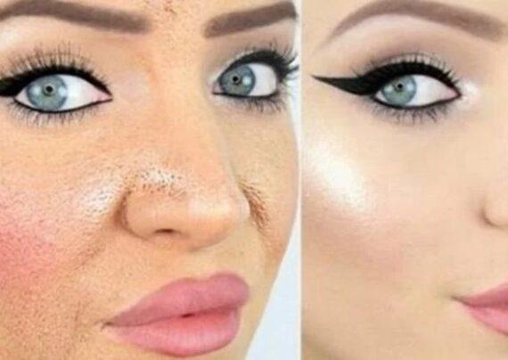 پوشاندن چاله های صورت با آرایش